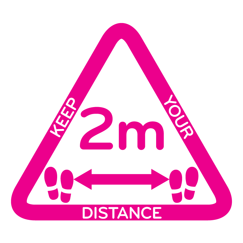 Keep your distance Pink Triangle White