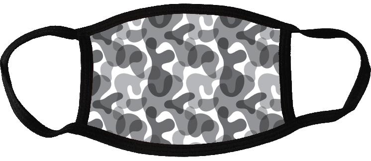 5 face masks - Camouflage Light 1
