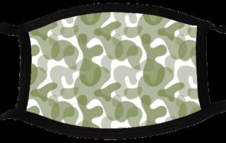 5 face masks - Camouflage Light 3