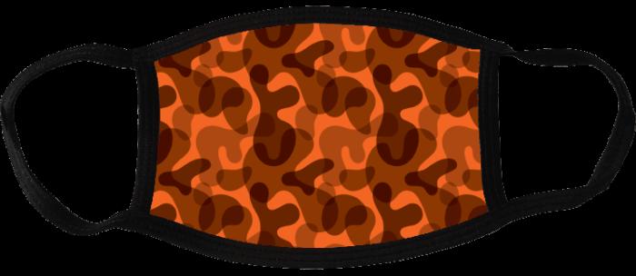 5 face masks - Camouflage Dark 2