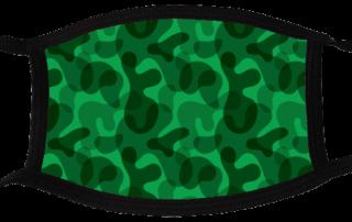 5 face masks - Camouflage Dark 3