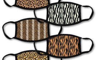 5 face masks - animal patterns