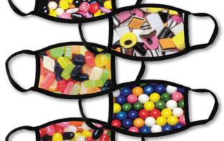 5 face masks - sweets