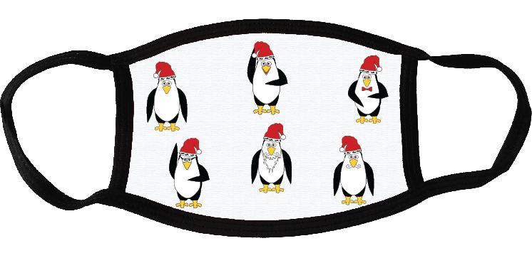 6 penguins face mask