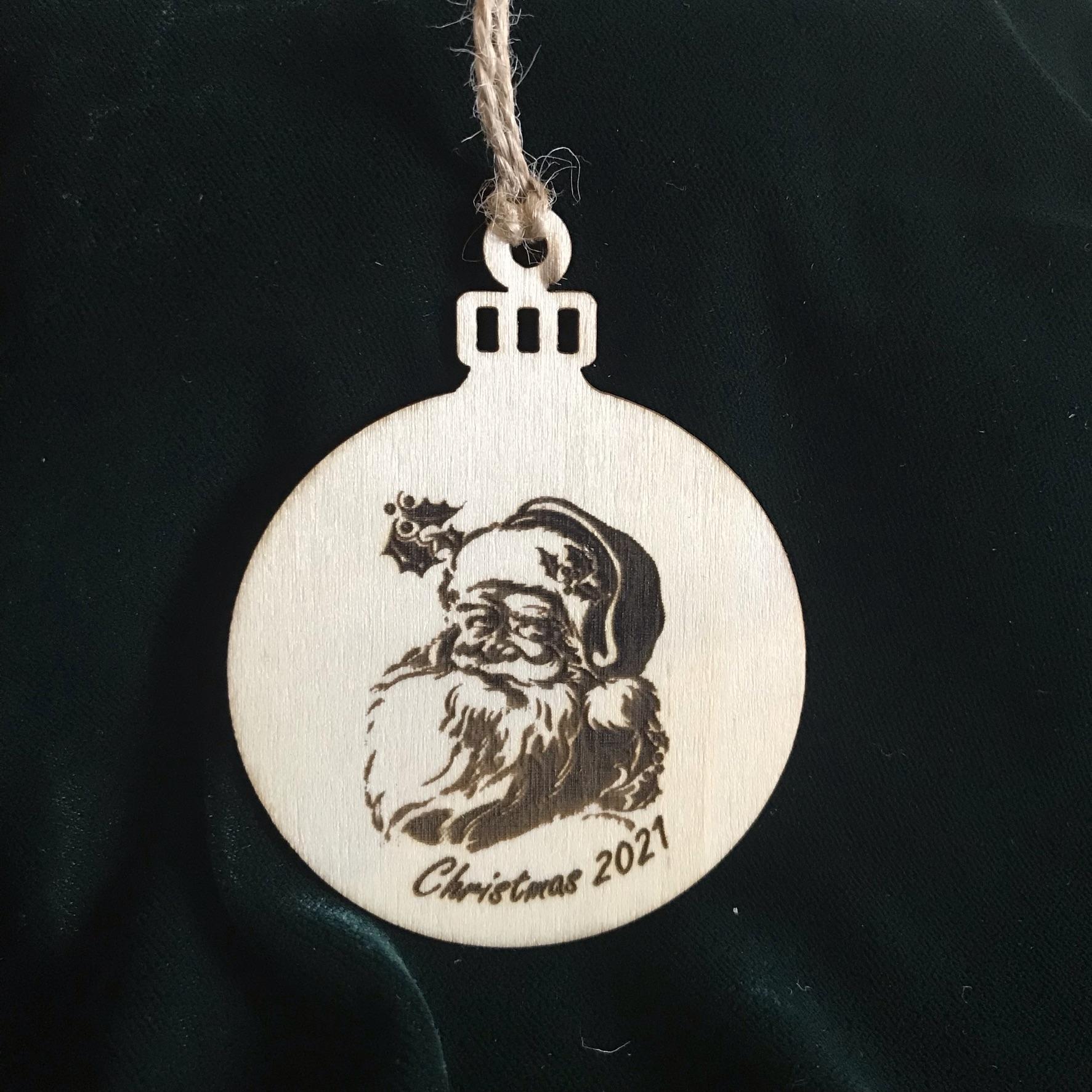 Christmas tree ornament Santa 2021