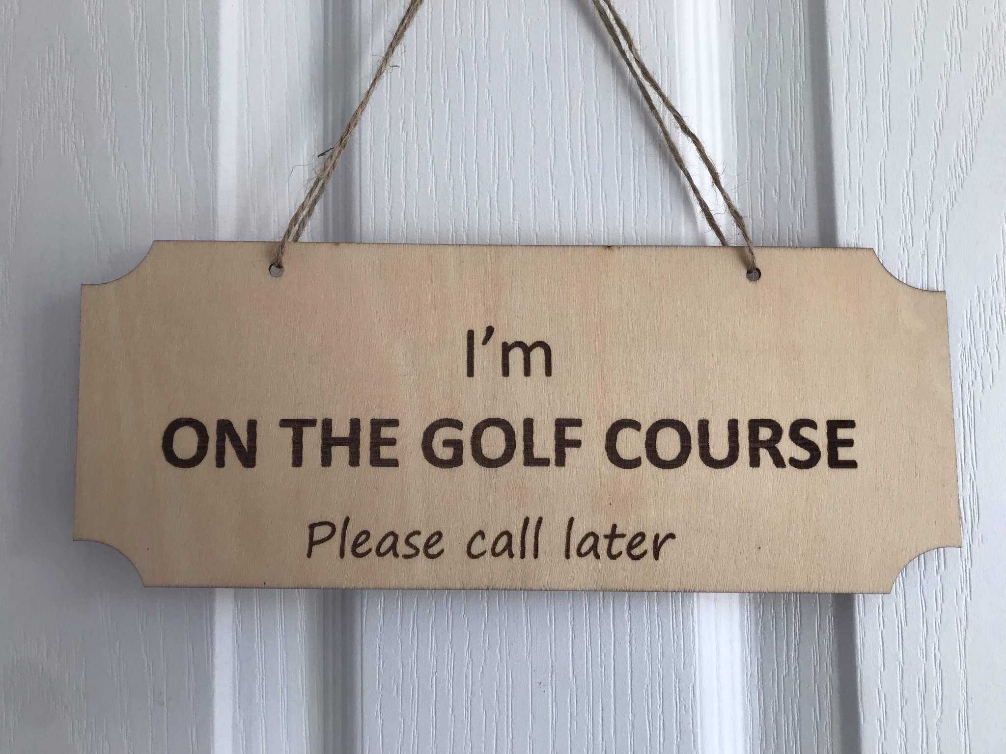 Rather be golfing double plaque back