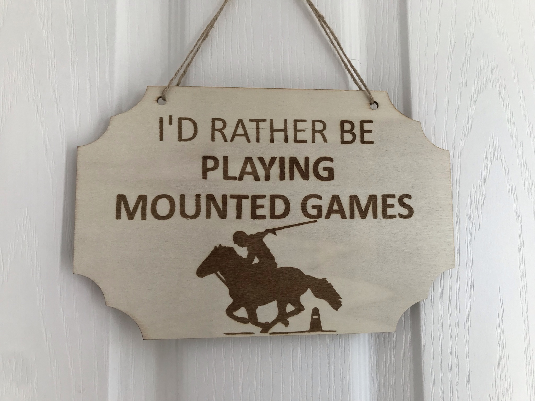 Rather be mounted games cutout sign