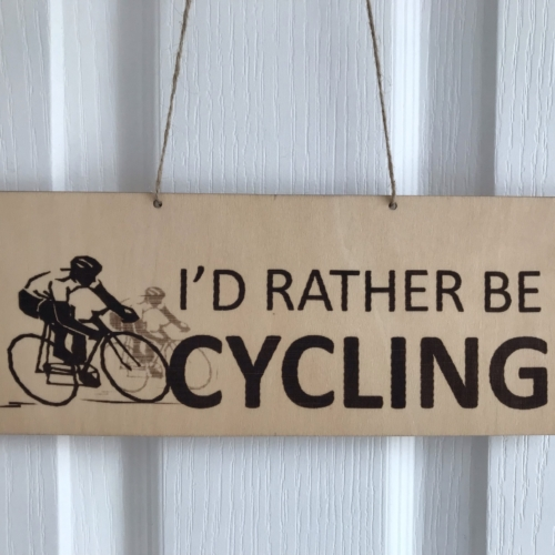 RatherBeCycling pennant plaque