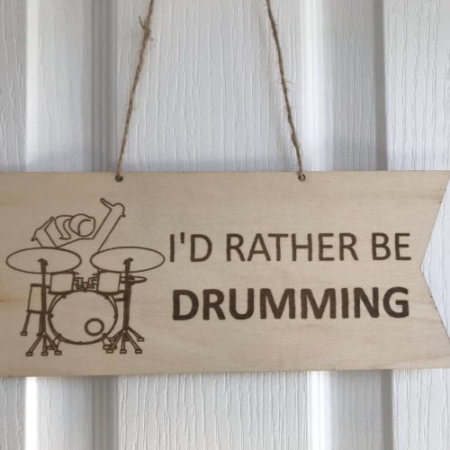 Rather be drumming F