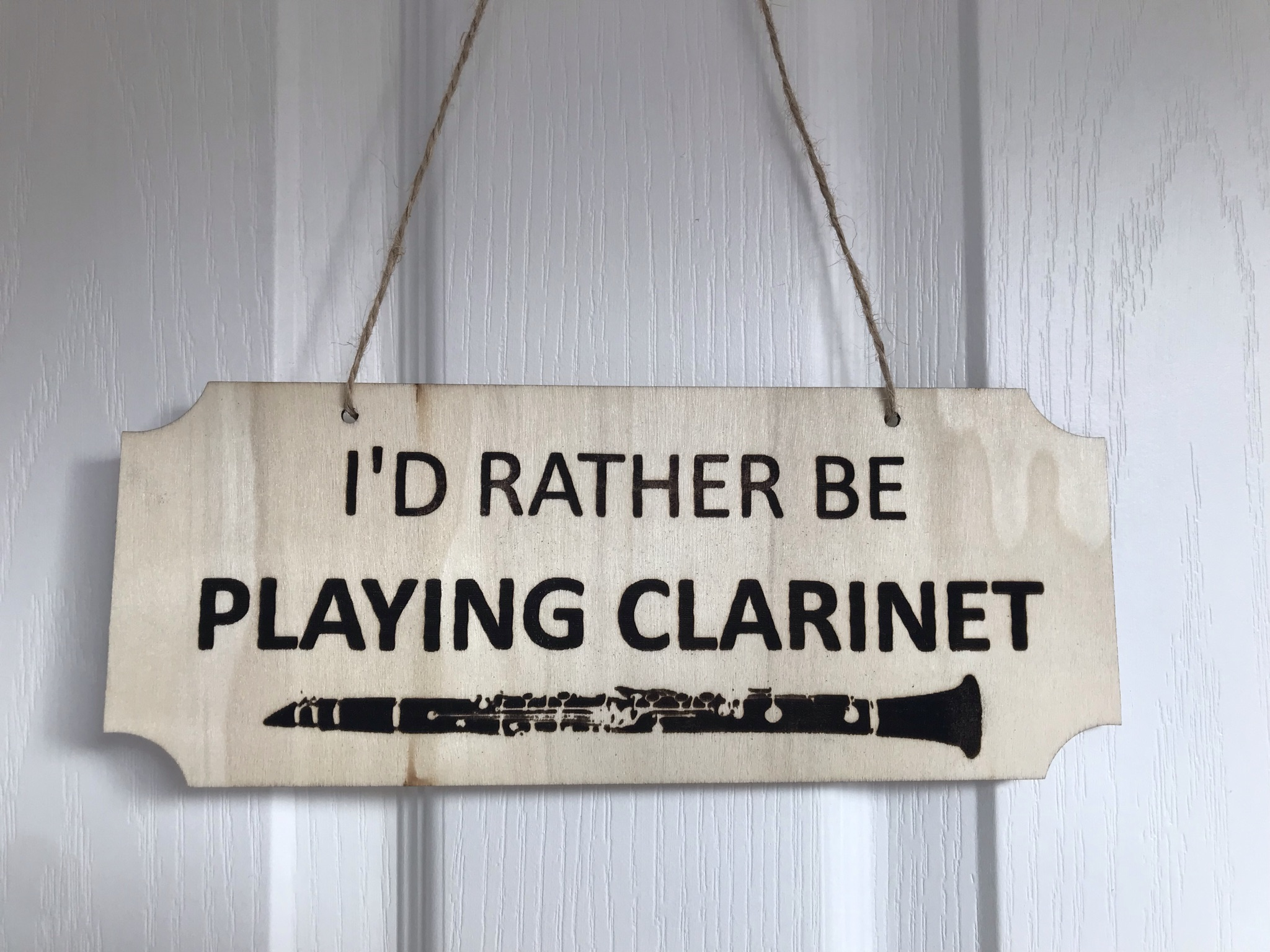 Rather be playing clarinet